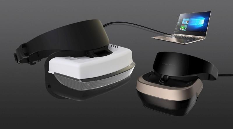 Microsoft VR 眼鏡主要對應 2017 年推出的《Windows 10 Creators Update》,外形設計跟 PS VR 有幾分相似。