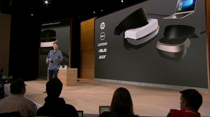 Windows 主席 Terry Myserson 表示,Microsoft VR 眼鏡內置六度自由追蹤感測器。