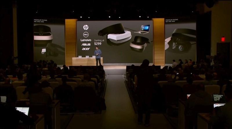 Microsoft VR 眼鏡將可搭配 Dell、HP、Lenovo、Asus、Acer 電腦使用,建議售價為 299 美元起。