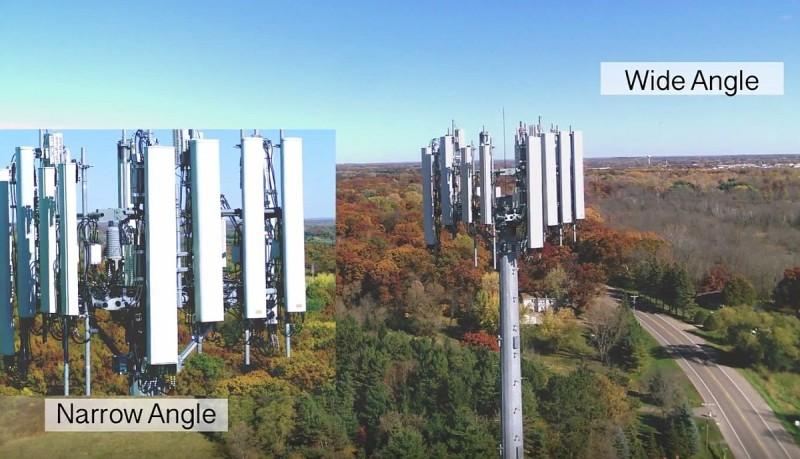 Sentera Omni 無人機的 4K 雙鏡頭可同一時間各自捕捉廣角和近攝的視野。