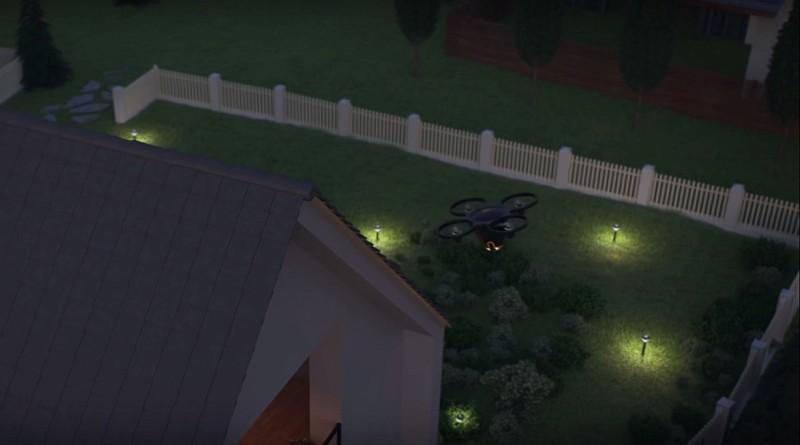 Sunflower Home Awareness System 無人機會在屋外四周巡邏,偵測會否有可疑人物入侵。