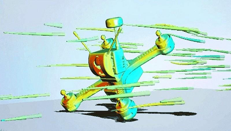 Tanky Drone 所使用的「X 形」機架,有效發揮空氣動力學,阻力少而且加速快。