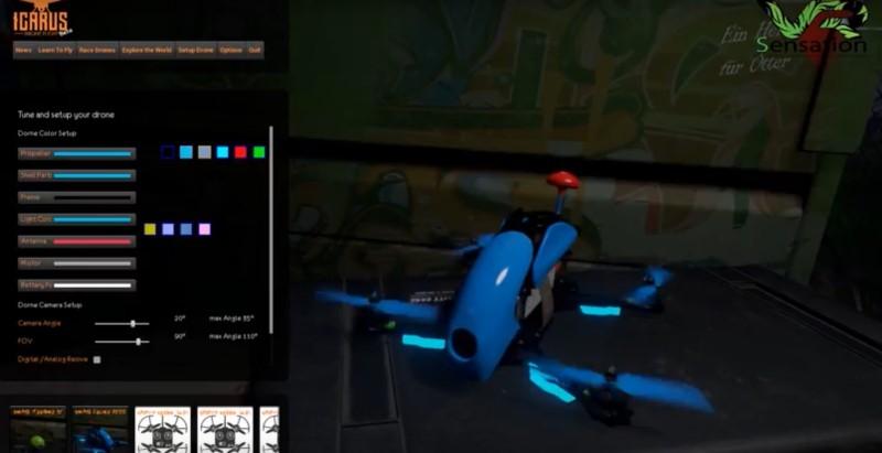 《Icarus Drone Flight》用戶可自行設計個人化的四軸飛行器。