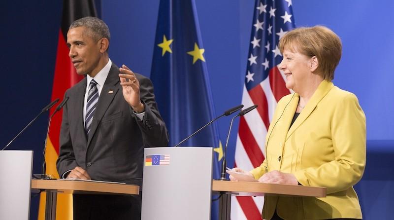 奧巴馬過往多次到訪德國與默克爾會談。