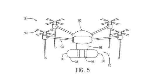 專利文件題示,環球影城計劃用四軸機作特別效果。