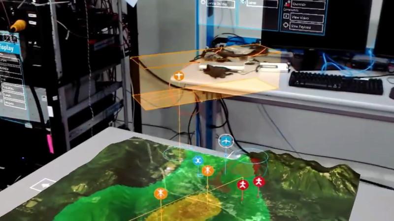 波音用微軟 HoloLens 操控 ScanEagle - 3D 地圖