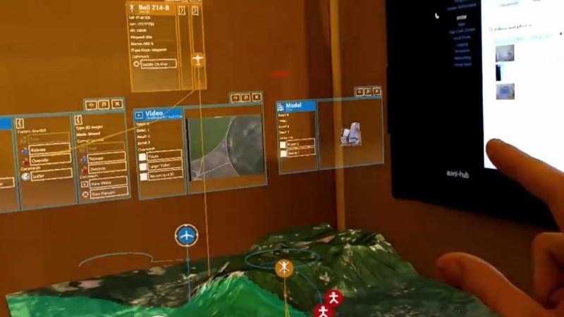 操作介面則投射在用戶四周。
