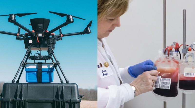 無人機 約翰霍普金斯大學 運送 血液