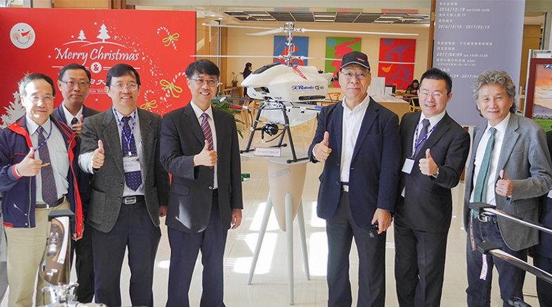 台灣逢甲大學及雷虎科技共同發表「電動雙旋翼無人直升機」