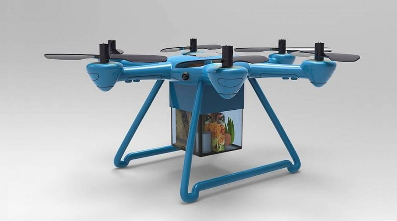 Foxtrot 無人機半小時宅配食材到府