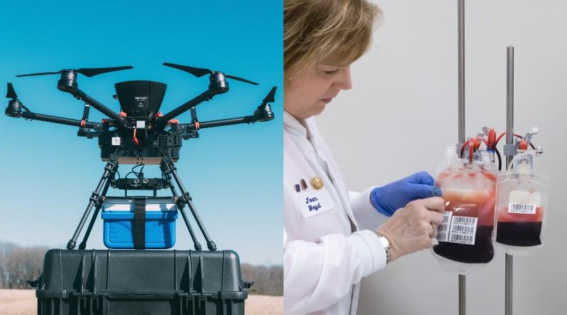 約翰霍普金斯大學研究用無人機運送血液
