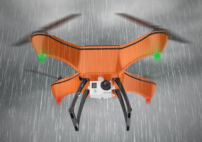Xeno Sky 無人機採用一體化機身設計,具有 IP7 防水級別,可在雨中飛行航拍。