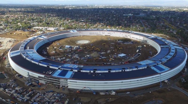 蘋果 新總部 空拍 地盤