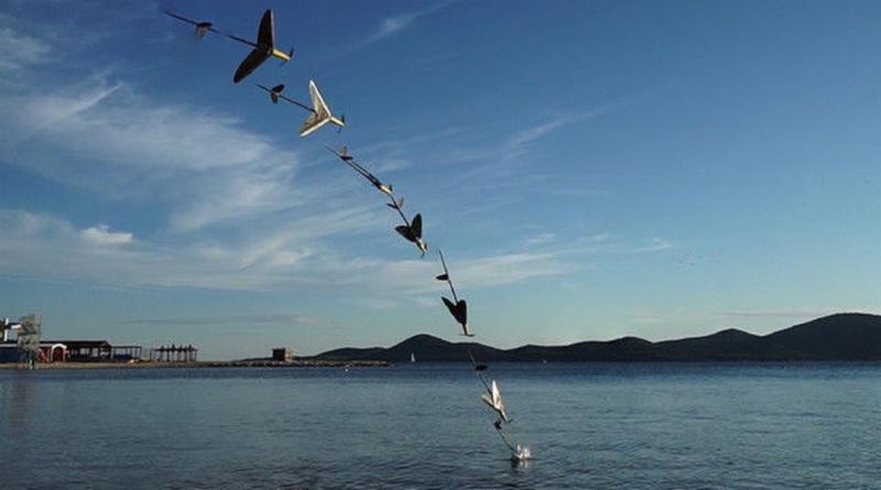 AquaMav 無人機仿水鳥入水 像飛魚躍水