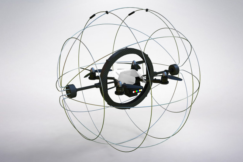Droneball 球形無人機標榜防撞、安全。