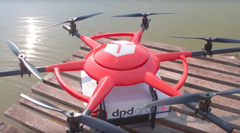 DPDgroup 的無人機採用六軸和碳纖維機體設計。
