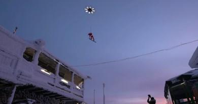 聖誕老人來了?巨無霸無人機拉動滑雪 凌空飛躍!