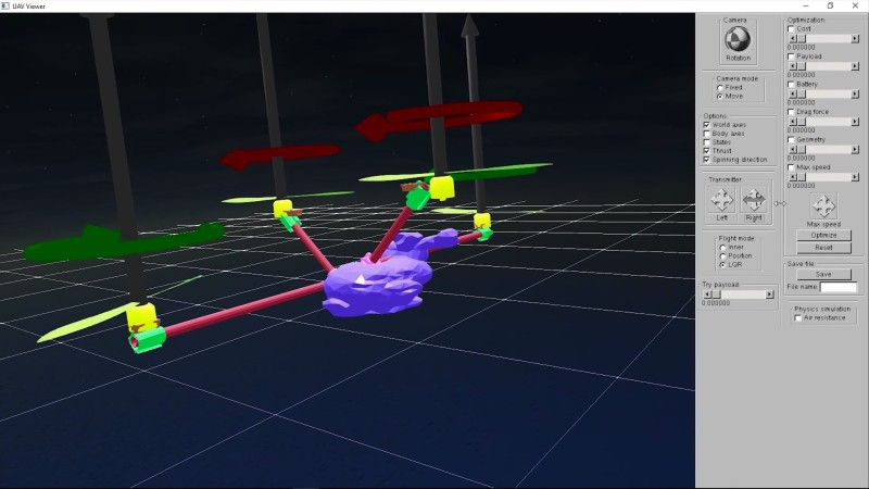 無人機 DIY 系統讓用家可測試模擬飛行。