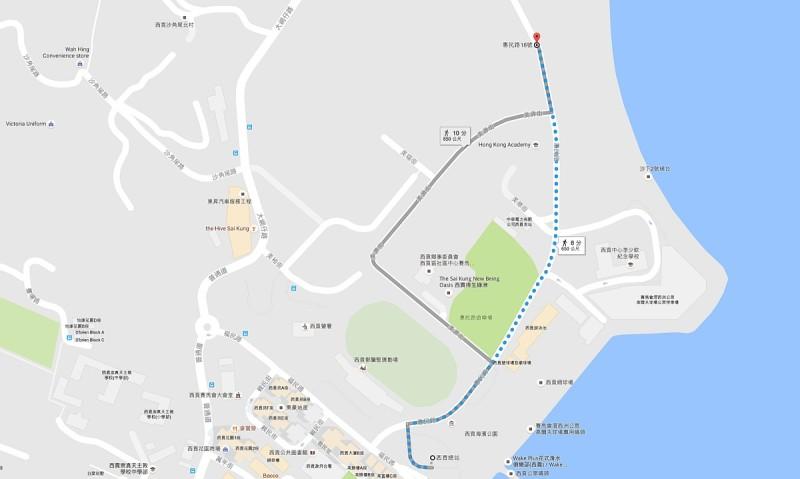 航拍景點地圖:西貢惠民路 18 號