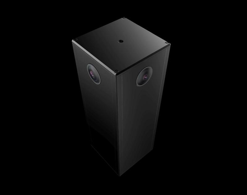 Sphericam Beast VR 攝影機的機身裝配 4 組 190 度視角的魚眼鏡頭,各自內置 1 吋感光元件。