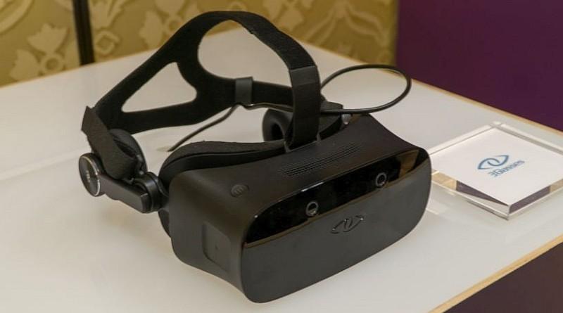 3Glasses VR 眼鏡外觀上的最大特色,機身前方具有品牌自身的眼睛形標誌。