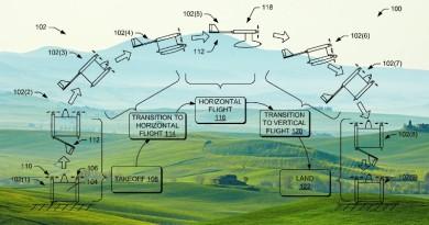 亞馬遜複合翼無人機專利曝光 升空展翅•伸尾變形 實現垂直起降
