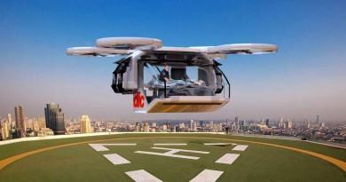 救護無人機概念亮相 空降現場接載傷者 提升救援效率