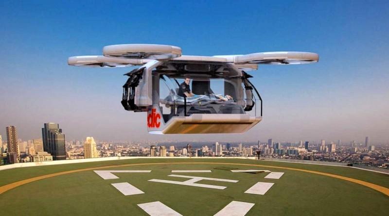 救護無人機概念亮相 空降現場接載傷者