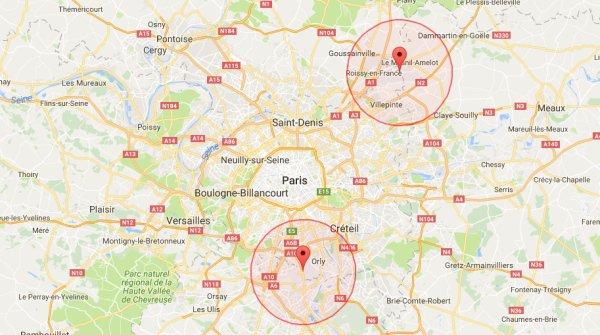 DJI 地理圍欄內的巴黎禁飛區