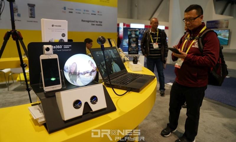 Insta360 的 CES 2017 展位上還有展出 Insta360 Nano 和 Insta360 Air。