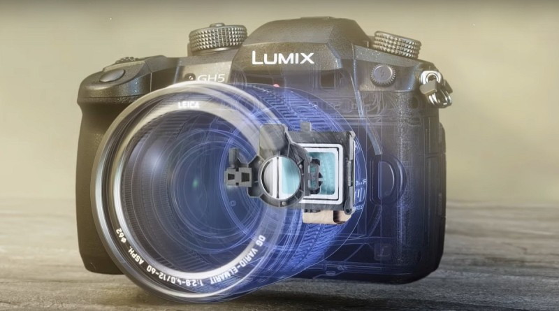 Panasonic LUMIX GH5 內置 5 軸防震系統。