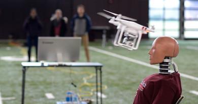 無人機爆頭實況曝光!美大學模擬航拍機撞擊人體 評估損傷風險