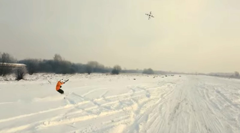 droneboarding 無人機 滑雪