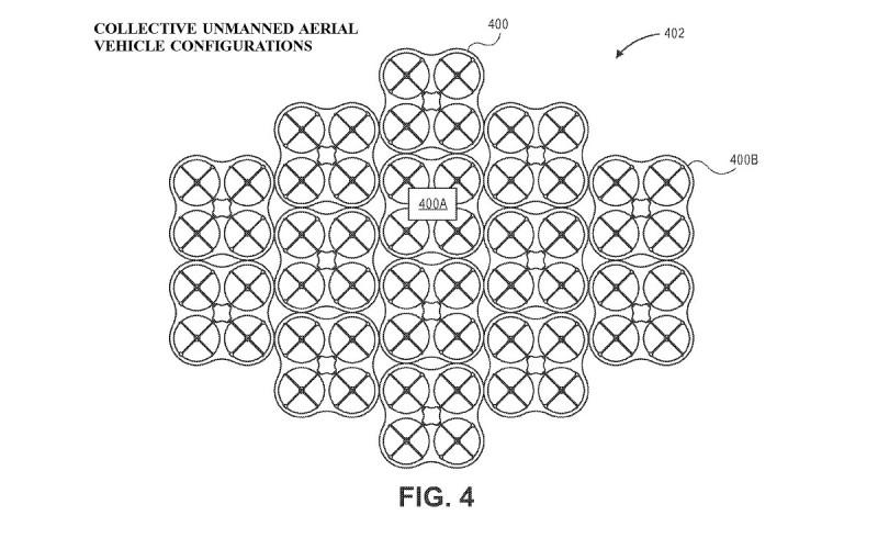 亞馬遜無人機機群組成菱形陣式。