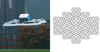 亞馬遜集群無人機專利圖曝光 百變合體化身巨型運輸機