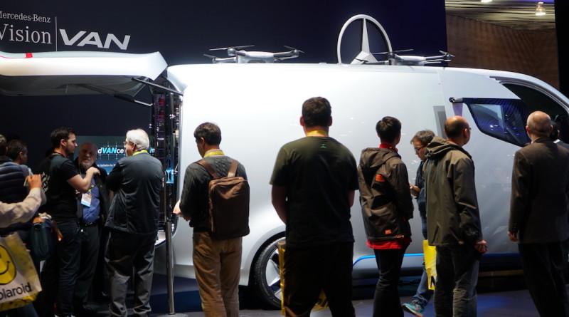 benz-vision-van ces 2017 無人機 送貨