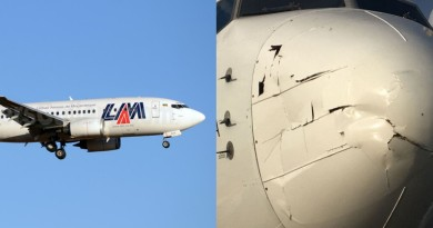 【有圖】無人機迎頭撞上波音 737 客機?機首凹陷損毀嚴重