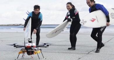 日本無人機自駕飛行12公里送熱湯 創下全球最遠距送貨紀錄
