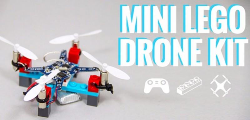 Mini Lego Drone Kit 主要由 LEGO 積木機架、旋翼、馬達(摩打)、電路板、控制器等組成,構造看似非常簡單。