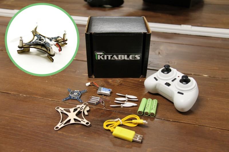 Kitables 於 2016 年 5 月推出木製的小型四軸機 Mini Wood Drone。
