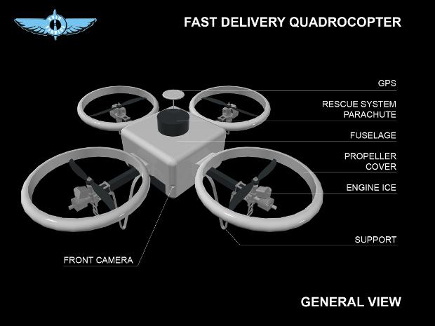 採用汽油引擎驅動的 MMS Drones,廠方宣稱可連續飛行 2 小時。