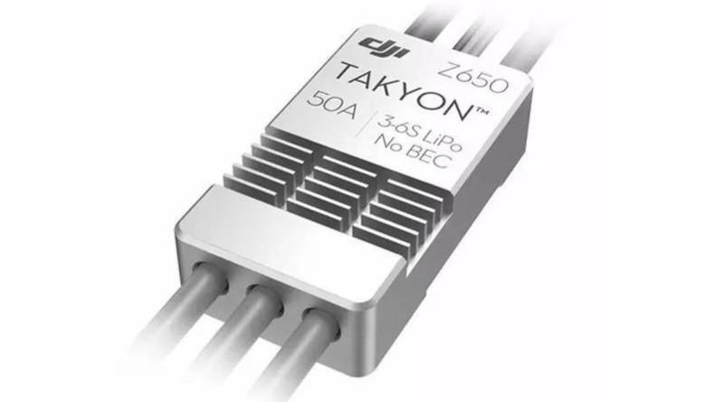 Takyon Z650 的重量為 10 克,最大工作電流 50A,體積約為同等功率電調的四分一。