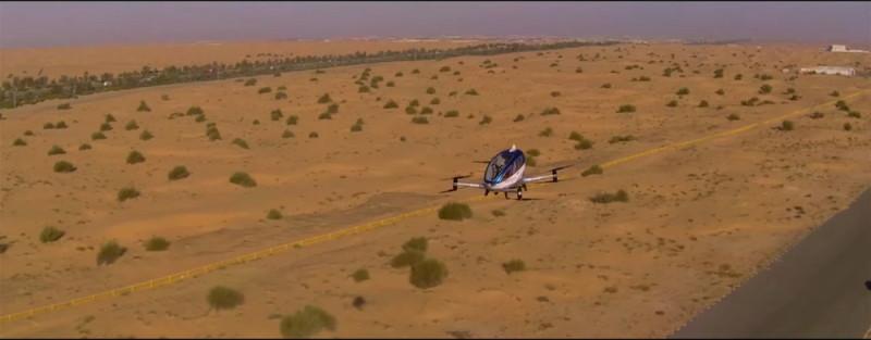 億航 Ehang 184 在杜拜試飛