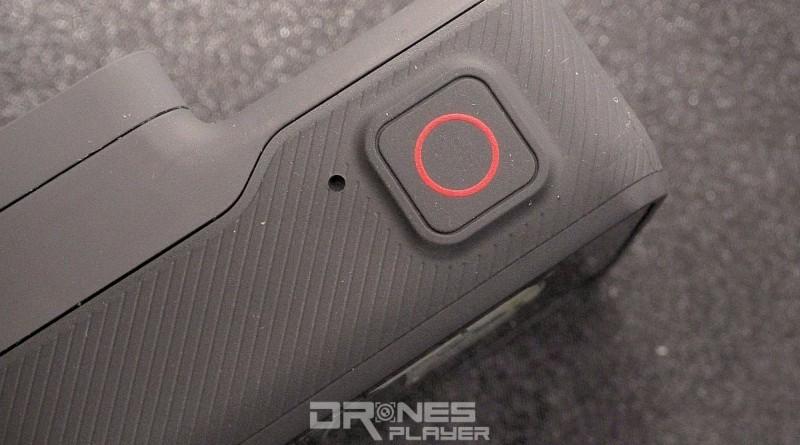GoPro HERO 5 Black 機頂設有快門鍵。