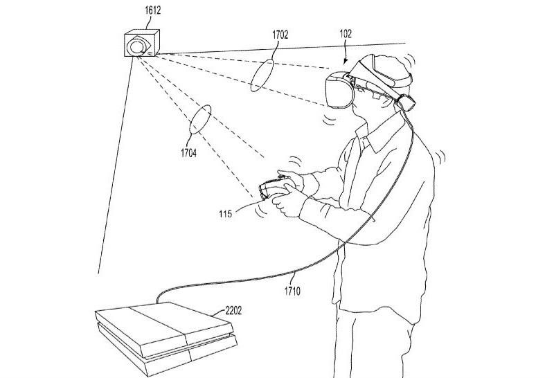 從專利申請圖中可見,PS VR 的外部追蹤設備會像 HTE Vive Base Station 般射出光束,並通過鏡子反射,從而掃描整個空間,感知玩家的動作軌跡。