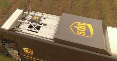 UPS 首試無人機宅配到府運作 貨車頂上起飛省時又省錢