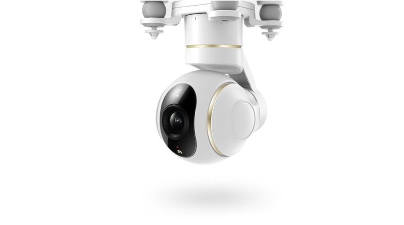 小米無人機 4K 版採一體化設計的三軸雲台相機,內置三軸無刷電機能保持航拍畫面平穩。