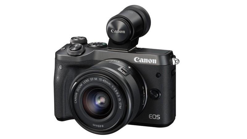 Canon EOS M6 機身不設電子觀景器,用戶可另購 EVF-DC2。
