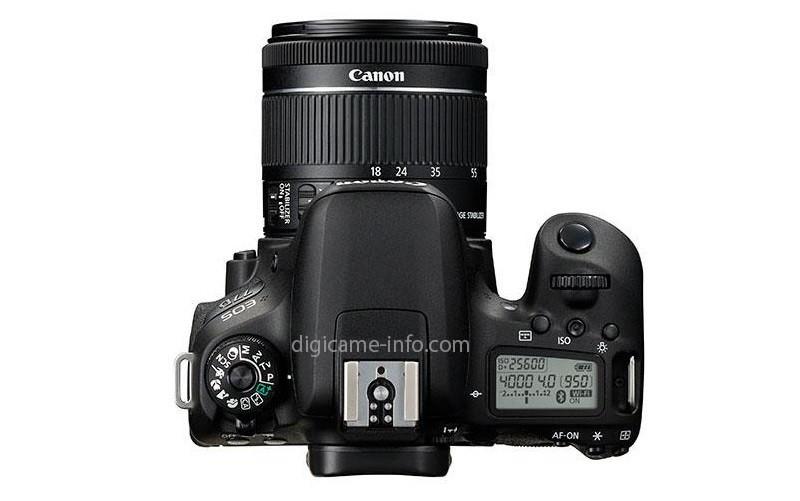 Canon EOS 77D 機頂介面布局