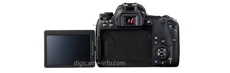 Canon EOS 77D 機身背面設有 3 吋可翻轉觸控屏幕